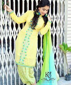 @AMAN❤ Indian Salwar Suit, Punjabi Salwar Suits, Designer Punjabi Suits, Punjabi Dress, Indian Suits, Indian Attire, Indian Designer Wear, Indian Wear, Salwar Kameez