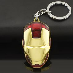 Marvel comics super hero the avengers iron người đàn ông mặt nạ kim loại dây móc khóa key chains purse túi khóa key phụ kiện giữ móc khóa k103