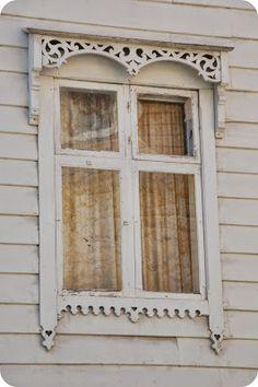 Scallops of white window trim