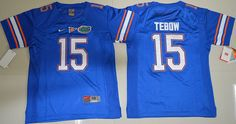 Youth Florida Gators Tim Tebow 15 College Football Jersey - Royal Blue
