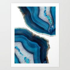 Blue Agate Canvas Print by Emanuela Carratoni. All canvas prints are professionally printed, assembled, and shipped within 3 - 4 business days and delivered ready-to-hang on your wall. Choose from multiple print sizes, border colors, and canvas materials. Stretched Canvas Prints, Framed Art Prints, Pillowcase Pattern, Painting Edges, Canvas Artwork, Resin Art, Lovers Art, Decoration, Agates