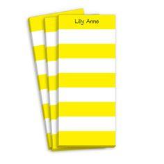 Yellow Stripe Skinnie Notepads
