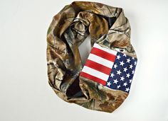 RealTree Hunter American Infinity Scarf, American Flag Camo Scarf