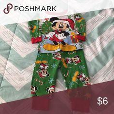 Baby Boy Pajamas Mickey Mouse Christmas EUC Mickey Mouse pajamas. No stains and in size 12 months. Disney Pajamas Pajama Sets