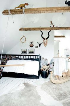 Cozy Scandinavian styled room found on Mummo Design | 10 Lovely Little Boys Rooms Part 4 - Tinyme Blog