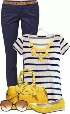 Azul marino + amarillo