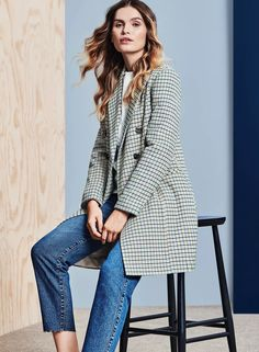 The check coat guaranteed to see you through the cold weather in style. Winter, we're ready for you.
