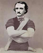 Edgar Allan Poe Art Print 8 x 10 - Altered Art - Circus Sideshow - Surreal Art