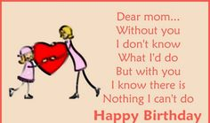 Cute Birthday Greeting For Mom