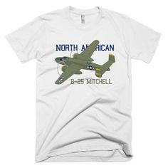 North American B-25 Mitchell Custom Airplane T-shirt - Personalized with Your N# White / 2XL. Flyboy Toys is the registered brand on Amazon. If your product is not sold through by us please report to Amazon and request for a full refund. American Apparel 2001. Fine Jersey Slim Fit. Made in the USA sweatshop free.