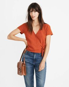 55895eb2f7 30 Best Wrap   Tie Top images in 2019