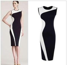 Women Geometry Design Sleeveless O-Neck Stretchy Evening Slim Dress Women's Dresses, Dresses For Sale, Fashion Dresses, Dresses For Work, Fashion Clothes, New Dress, Dress Up, Robes D'occasion, Mode Glamour