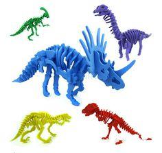 Enfants 5 Couleurs Simulation Dinosaure Puzzle 3D Jouet Squelette De Dinosaure Modèle dans Kits de construction de maquettes de Jouets & loisirs sur AliExpress.com | Alibaba Group