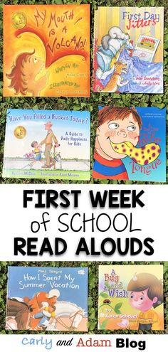 First Week of School Read Alouds: Get ready for the first week of school with beginning of the year read aloud suggestions, a FREE first week of school schedule, and ideas for back to school lesson plans and activities. #firstweekofschool #readalouds #backtoschool #classroommanagement #classroomorganization