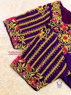 Hand Work Blouse Design, Simple Blouse Designs, Blouse Designs Silk, Bridal Blouse Designs, Wedding Symbols, Blouses, Sleeves, Fashion, Moda