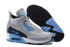 https://www.sportskorbilligt.se/  1830 : Nike Air Max 90 Sneakerboot Dam Blå Grå SE958821CJxthTqkk