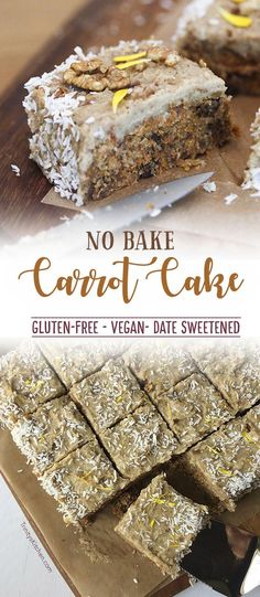 Raw, no-bake carrot cake by Trinity - gluten-free, vegan, date sweetened