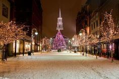 Church Street, Burlington, VT. I have been here and it really does look like this. Its amazing.
