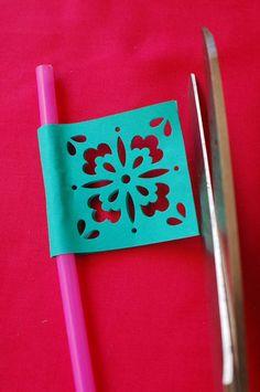 Papel Picado-esque Straw Flags Cinco De Mayo- Katy Landrum make me these!!!!