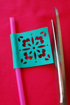 Papel Picado-esque Straw Flags Cinco De Mayo- Katy Landrum make me these!!!!