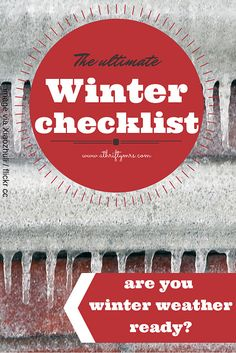 Get your home winter weather ready ~~ with these straight forward steps!