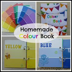 Color book made with paint samples, stickers, and key rings