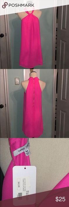 Hot Pink Naked Zebra Dress Adorable Hot pink Naked Zebra dress!! NWT!! Such a cute dress for spring/summer!! It is literally a must-have!! Naked Zebra Dresses Mini