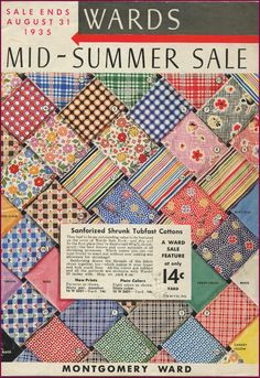 I want to go back in a time machine and buy all of these at 14c a yard!