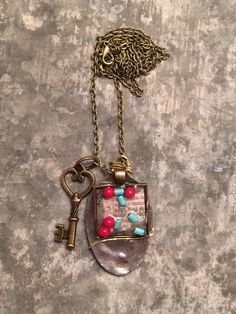 One of a Kind Unique Mixed Media Vintage by ChickenandOnion, $40.00