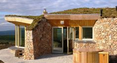 Luxury stone-clad lodges