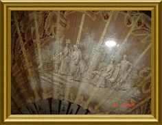 CIRCA 1870 FRENCH LADIES WEDDING FAN (detail) Antique Fans, Vintage Fans, Wedding Fans, Theme Color, Ancient History, Wedding Inspiration, French, Detail, Antiques
