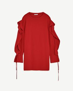 Image 6 of DRESS WITH SLEEVE FRILL from Zara