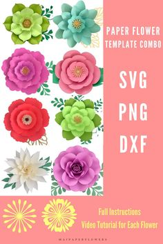 Are you looking for big paper flower template SVG? Don't miss out this set! It is great for Cricut and Silhouette for making large paper flowers at saving cost! #paperflowertutorial #paperflowertemplatesvg #paperflowersdiy #bigpaperflowers #paperflowerscricut #flowertemplatecricut #paperflowersvg #paperflowerscraft Big Paper Flowers, Paper Flower Backdrop, Giant Paper Flowers, Large Paper Flower Template, Paper Flower Tutorial, Printable Templates, Flower Center, Flower Crafts, Flower Making