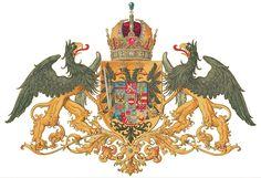 Coat of arms of the Austrian Empire Wappen des Kaisertums Österreich, das meine Heimat ist. Art Deco Tattoo, Kaiser Franz, Austrian Empire, Crop Pictures, Medieval Armor, Dark Ages, Crests, Military History, Castles