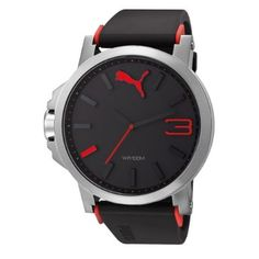 PUMA Men's PU102941003 Ultrasize Silver Analogue Watch: Watches: Amazon.com