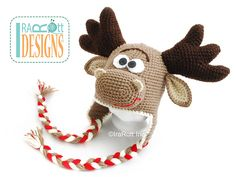 http://www.ravelry.com/patterns/library/eh-moose-hat-pdf-crochet-pattern-by-irarott
