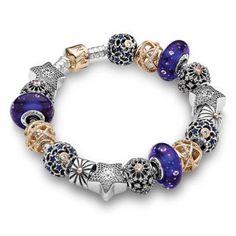 Pandora Starry Night Full Two-Tone Bracelet - Item PANB-17-SNB