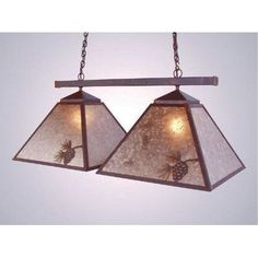Steel Partners Pinecone Double Game Swag Pendant Finish: Mountain Brown, Shade / Lens: Khaki