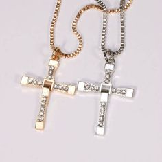Fast & Furious Toretto Men Classic Style Silver CROSS Necklace. Starting at $1