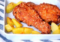 KFC rántott csirkecomb recept recept foto Meat Recipes, Chicken Recipes, Cooking Recipes, Kfc, Honey Sauce, Hungarian Recipes, Tandoori Chicken, Main Dishes, Bacon