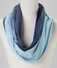 Take a look at this Blue Ombré Infinity Scarf by FRAAS on #zulily today!