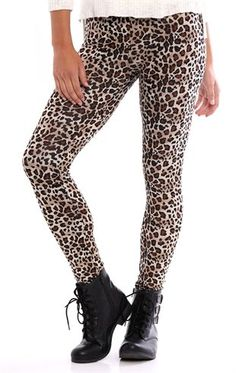 Deb Shops #Cheetah Print #Legging $12.00
