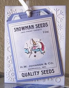 Snowman Seed Packet