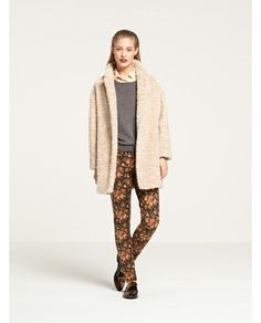 Maison Scotch faux fur coat... You will be mine!