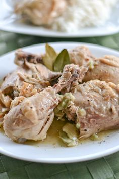 Filipino White Chicken Adobo (Adobong Puti)
