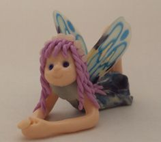 Blue mini Fairy. Handmade with Polymer clay by FriendlyFigures, €12.00