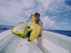 Catch...err Photo of the Day! @phild_hughes showing off a huge #MahiMahi! Nice work Phil!  #GoProFishing #AnglerApproved #🐟