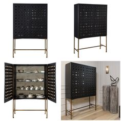 #Modern perforated Dillon Cabinet from Kelly Wearstler's new #furniture collection