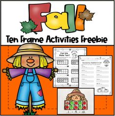 Do you need a fun, fall activity for centers, early finishers, small group, or just extra practice? These Ten Frame cards are just the thing! Just add some mini erasers, pom poms, or candies and have students fill in the ten frames to make ten! Then, have students write the addition problem under ... Ten Frame Activities, Senses Activities, Addition Activities, Apple Activities, Autumn Activities, Letter Recognition Games, Books About Kindness, Back To School Pictures, Sunday School Classroom