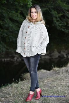 66 Best Poncho Knitting Patterns images in 2018 | Knit